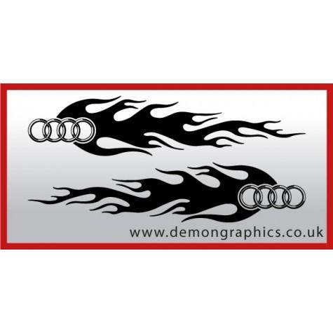 Logo flames : Audi