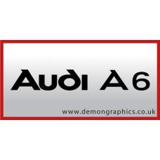 Audi A6 Vinyl Sticker