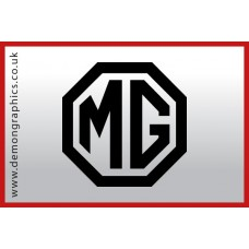 MG Badge Vinyl Sticker
