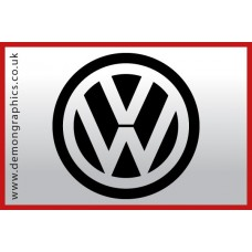 VW Badge Vinyl Sticker