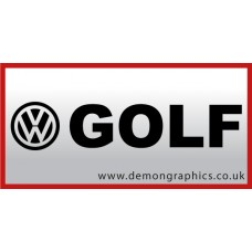 VW Golf Vinyl Sticker
