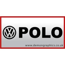 VW Polo Vinyl Sticker