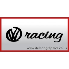 VW Racing Vinyl Sticker