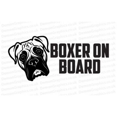 Boxer On Board Sticker