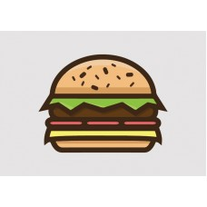 Burger Vinyl Sticker