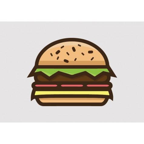 Burger Vinyl Sticker