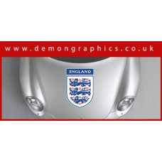 Bonnet Sticker - England 3 Lions