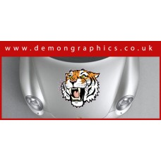 Bonnet Sticker - Tiger Head