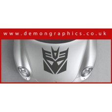 Bonnet Sticker - Transformers Decepticons
