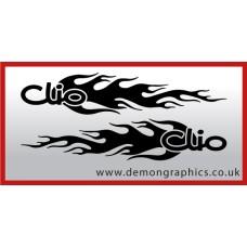 Logo flames : Clio