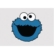 Cookie Monster Vinyl Sticker