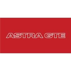 Old Skool Classic Vinyl Sticker: Astra GTE