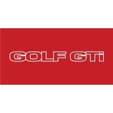 Old Skool Classic Vinyl Sticker: Golf GTI