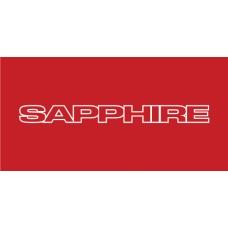 Old Skool Classic Vinyl Sticker: Sapphire