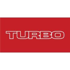 Old Skool Classic Vinyl Sticker: Turbo