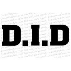 Bike Decal (Pair of) D.I.D