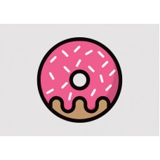 Donut Vinyl Sticker