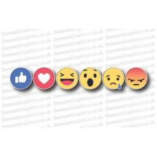 Facebook Reaction Buttons Sticker