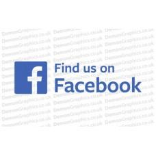 Find Us On Facebook Sticker