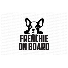 French Bulldog On Board Sticker 2