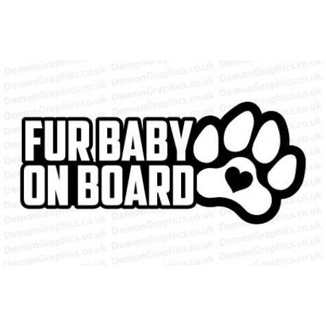 Fur Baby On Board Sticker