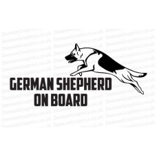 German Shepherd On Board Sticker