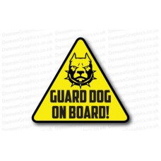 Guard Dog On Board Logo Sticker