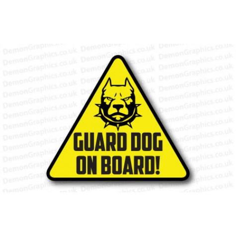 Guard Dog On Board Logo Sticker