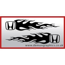 Logo flames : Honda
