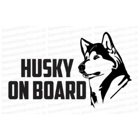 Husky On Board Sticker