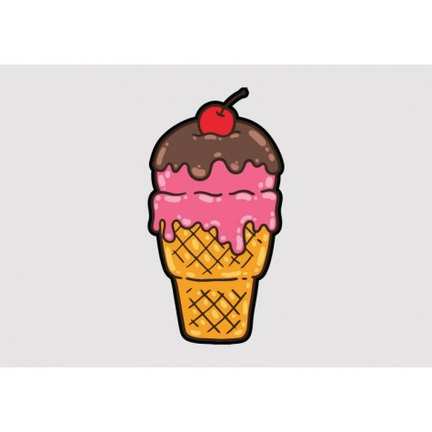 Ice Cream Vinyl Sticker