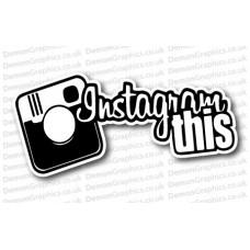 Instagram This Vinyl Sticker