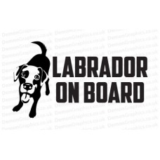 Labrador On Board Sticker