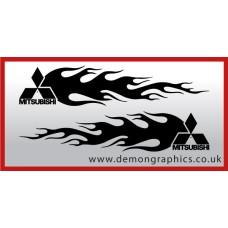 Logo flames : Mitsubishi