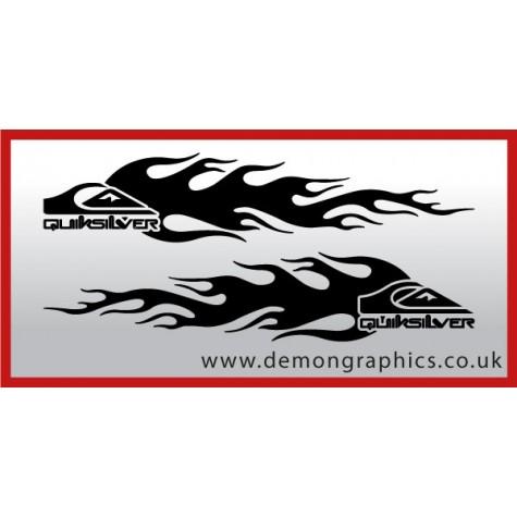 Logo flames : Quiksilver