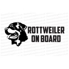 Rottweiler On Board Sticker