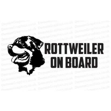 Rottweiler On Board Sticker