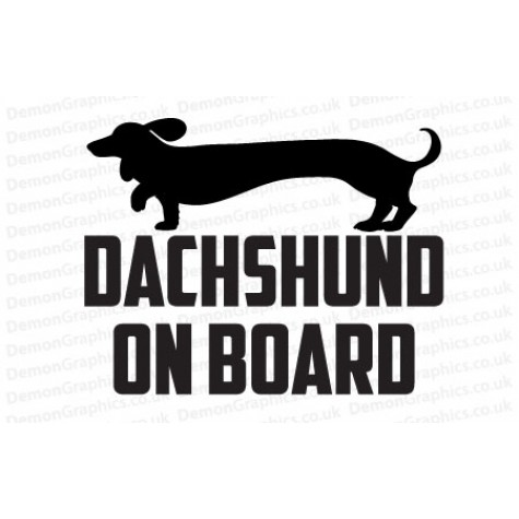 Dachshund On Board Sticker