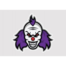 Crazy Clown Vinyl Sticker