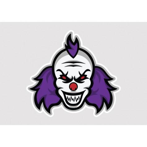 Crazy Clown Vinyl Sticker