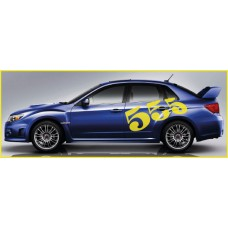 Subaru 555 Side Graphics