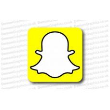Snapchat Logo Vinyl Sticker