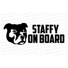 Staffy On Board Sticker