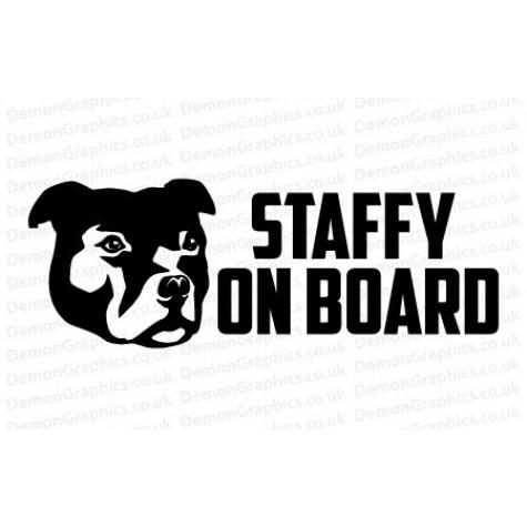 Staffy On Board Sticker