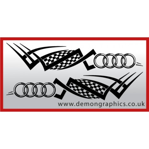 Logo tribal : Audi £19.99 both sides