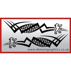 Logo tribal : Peugeot £19.99 both sides