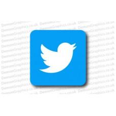 Twitter Logo Sticker