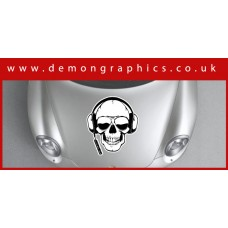 Bonnet Sticker - Skull 1