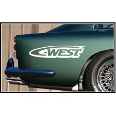 West Vinyl Sticker
