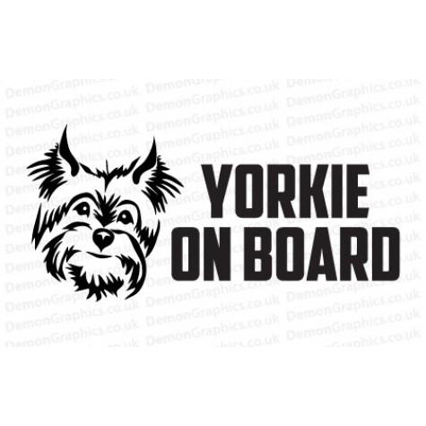 Yorkie On Board Sticker